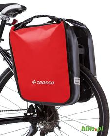 tylne sakwy rowerowe Crosso Dry Big 60 L czerwone