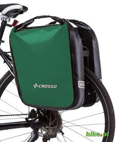 tylne sakwy rowerowe Crosso Dry Big 60 L zielone