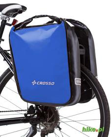 tylne sakwy rowerowe Crosso Dry Big 60 L niebieskie