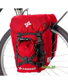 sakwy rowerowe Crosso Classic small 30 L czerwone