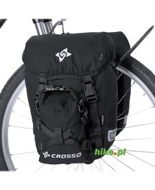 sakwy rowerowe Crosso Classic small 30 L czarne