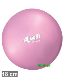 piłka gimnastyczna do ćwiczeń Allright Over Ball 18 cm różowa