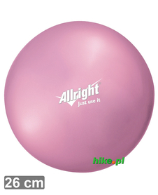 piłka gimnastyczna do ćwiczeń Allright Over Ball 26 cm różowa