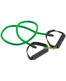 guma fitness z uchwytami Allright zielona 120x11x0,7 cm