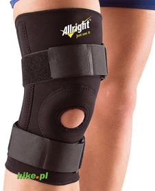 neoprenowy ściągacz na kolano z rzepem Allright czarny