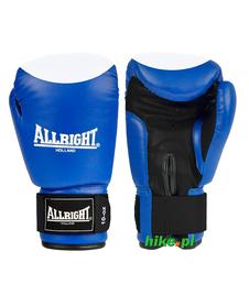 rękawice bokserskie skóra naturalna Allright niebiesko-białe
