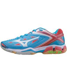 damskie buty Mizuno Wave Stealth 3 niebiesko-czerwone