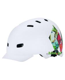 kask rowerowy freestyle Alpina Park biały print