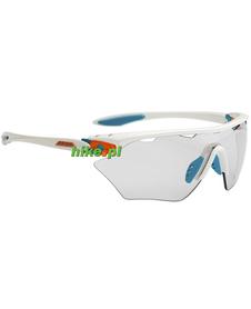 Alpina Twist Four Shield VL+ - okulary sportowe  biało-niebieskie