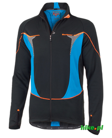 męska bluza rowerowa Berkner Jack czarno-niebieska