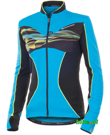 damska bluza rowerowa Berkner Dominica turkusowo-czarna
