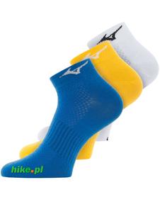 skarpetki Mizuno Training MID 3P białe, żółte i niebieskie