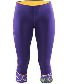 Craft Devotion Capri - damskie legginsy 3/4 do biegania - fioletowe SS15