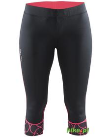 Craft Devotion Capri - damskie legginsy 3/4 do biegania - czarne SS15