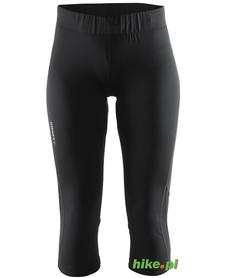 Craft Prime Capri - damskie legginsy 3/4 do biegania - czarne SS15