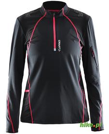 Craft Trail LS Shirt - damska bluza do biegania - czarno-różowa SS15