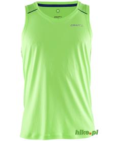 Craft Devotion Singlet - męski bezrękawnik do biegania - zielony SS15