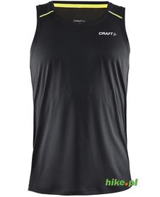 Craft Devotion Singlet - męski bezrękawnik do biegania - czarny SS15