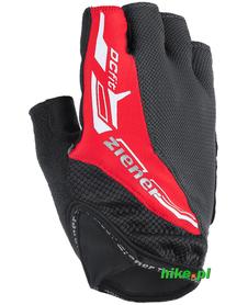 Ziener Caceo - męskie rękawiczki rowerowe - ciemnoszare - czerwone