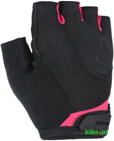 Ziener Capela - damskie rękawiczki rowerowe - czarno-różowe