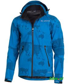 Viking Monsum - męska kurtka z kapturem - niebieska