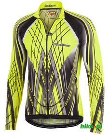 Berkner Team Fluo - męska bluza rowerowa - czarno-seledynowa