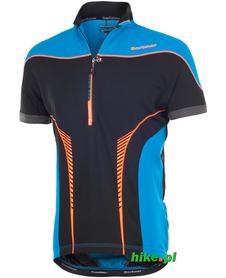 Berkner John - męska koszulka rowerowa - niebiesko-czarna