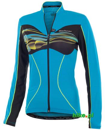 Berkner Daisy LS - damska koszulka rowerowa - turkusowa