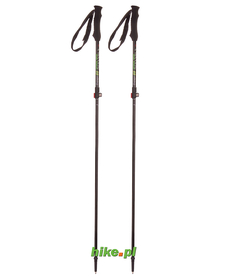 Viking Kettera - kije trekkingowe - czarno-zielone