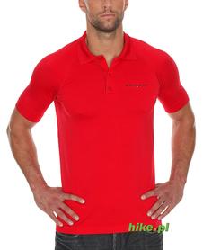 Brubeck Prestige - męska koszulka polo - czerwona