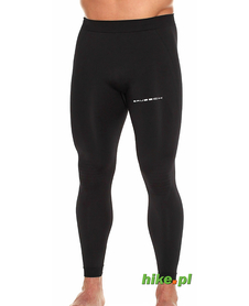 Brubeck Running Force - męskie legginsy do biegania - czarne