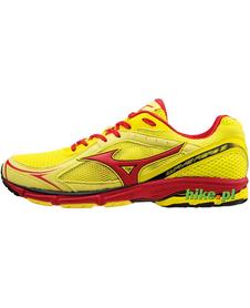 Mizuno Wave Aero 13 - buty do biegania - żółto-czerwone