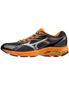 Mizuno Wave Advance 2 - buty do biegania - czarno-pomarańczowe