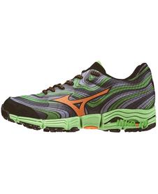 Mizuno Wave Kazan - buty do biegania w terenie - zielono-szare