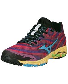 Mizuno Wave Kazan - damskie buty do biegania w terenie - ciemnoczerwone