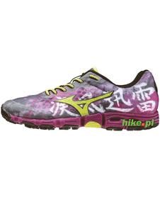 Mizuno Wave Hayate - buty do biegania w terenie - szaro-fioletowe