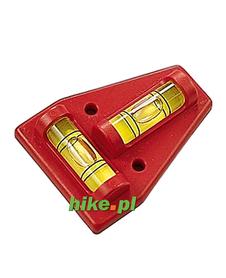 Brunner Traingle - poziomica podwójna - czerwona
