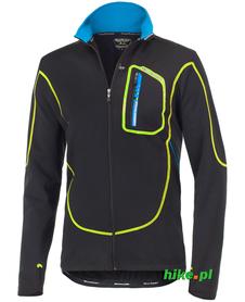 Berkner Jacob - wiatroszczelna męska bluza rowerowa - czarno-żółta