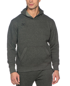 Mizuno Hooded Sweat - męska bluza z kapturem - szara