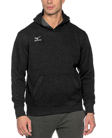 Mizuno Hooded Sweat - męska bluza z kapturem - czarna