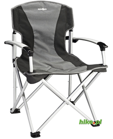 Brunner Armchair Big Guys - składane krzesło turystyczne - szaro-czarne