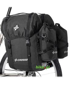 Crosso Expert Big 60 L - tylne sakwy rowerowe - czarne