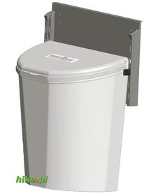 Brunner Pillar XL - kosz na śmieci - szary