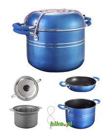 Brunner Skipper 4+1 - garnki do gotowania - niebieskie