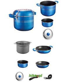 Brunner Skipper 8+1 - garnki do gotowania - niebieskie