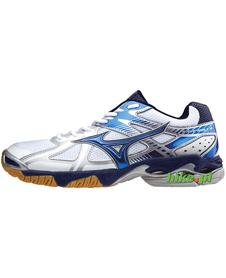 Mizuno Wave Bolt 4 - buty siatkarskie - biało-niebieskie