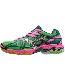 Mizuno Wave Bolt 4 - buty siatkarskie - zielono-różowe