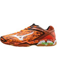 Mizuno Wave Stealth 3 - buty halowe - pomarańczowe