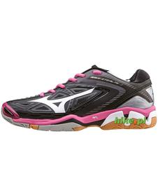 Mizuno Wave Stealth 3 - damskie buty halowe - czarno-różowe