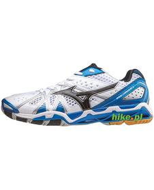Mizuno Wave Tornado 9 - buty siatkarskie - biało-niebieskie